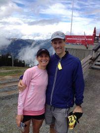 Steve and I at 5 Peaks Race Whistler Mountain