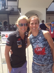 Post race with pro (and winner) Mirinda Carfrae