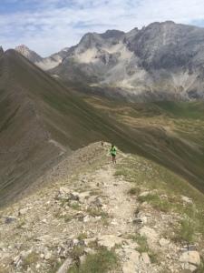 Runner along ridge